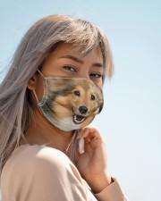 Amazing Sheltie Cloth face mask aos-face-mask-lifestyle-19