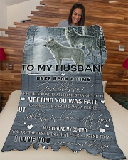 """To my husband - I love you always and forever Large Fleece Blanket - 60"""" x 80"""" aos-coral-fleece-blanket-60x80-lifestyle-front-04"""
