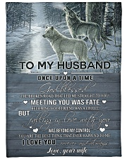 """To my husband - I love you always and forever Large Fleece Blanket - 60"""" x 80"""" front"""