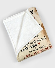 """To my son - I will always be there Large Fleece Blanket - 60"""" x 80"""" aos-coral-fleece-blanket-60x80-lifestyle-front-08"""