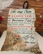 """To my son - Never forget that I love you Large Fleece Blanket - 60"""" x 80"""" aos-coral-fleece-blanket-60x80-lifestyle-front-04"""