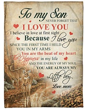"""To my son - Never forget that I love you Large Fleece Blanket - 60"""" x 80"""" front"""