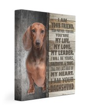 Dachshund - I am your friend 11x14 Gallery Wrapped Canvas Prints front