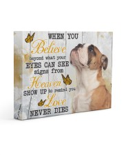 English Bulldog - Love never die 14x11 Gallery Wrapped Canvas Prints front