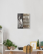 Boston terrier - I am your friend 11x14 Gallery Wrapped Canvas Prints aos-canvas-pgw-11x14-lifestyle-front-03