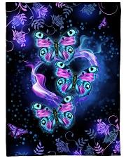 "I love butterflies Large Fleece Blanket - 60"" x 80"" front"