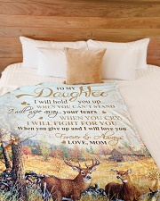 """My daughter - I will love you forever and always Large Fleece Blanket - 60"""" x 80"""" aos-coral-fleece-blanket-60x80-lifestyle-front-02"""