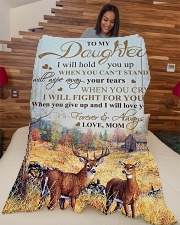 """My daughter - I will love you forever and always Large Fleece Blanket - 60"""" x 80"""" aos-coral-fleece-blanket-60x80-lifestyle-front-04"""