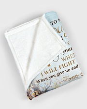 """My daughter - I will love you forever and always Large Fleece Blanket - 60"""" x 80"""" aos-coral-fleece-blanket-60x80-lifestyle-front-08"""