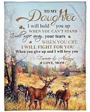 """My daughter - I will love you forever and always Large Fleece Blanket - 60"""" x 80"""" front"""