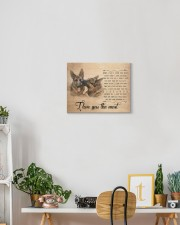 German shepherd - I love you the most 14x11 Gallery Wrapped Canvas Prints aos-canvas-pgw-14x11-lifestyle-front-03