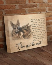 German shepherd - I love you the most 14x11 Gallery Wrapped Canvas Prints aos-canvas-pgw-14x11-lifestyle-front-09