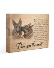 German shepherd - I love you the most 14x11 Gallery Wrapped Canvas Prints front