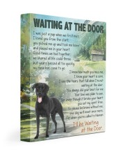 Labrador - Waiting at the door  11x14 Gallery Wrapped Canvas Prints front