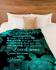 """My daughter - You are loved more than you know Large Fleece Blanket - 60"""" x 80"""" aos-coral-fleece-blanket-60x80-lifestyle-front-02"""