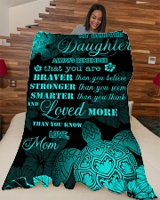 """My daughter - You are loved more than you know Large Fleece Blanket - 60"""" x 80"""" aos-coral-fleece-blanket-60x80-lifestyle-front-04"""
