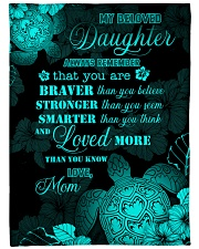 """My daughter - You are loved more than you know Large Fleece Blanket - 60"""" x 80"""" front"""