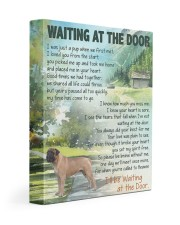 Waiting at the door - English Mastiff 11x14 Gallery Wrapped Canvas Prints front