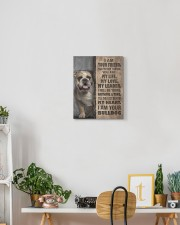 English bulldog-I am your friend 11x14 Gallery Wrapped Canvas Prints aos-canvas-pgw-11x14-lifestyle-front-03