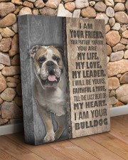 English bulldog-I am your friend 11x14 Gallery Wrapped Canvas Prints aos-canvas-pgw-11x14-lifestyle-front-18