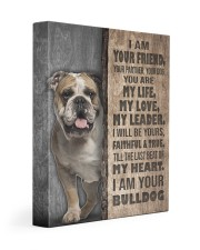English bulldog-I am your friend 11x14 Gallery Wrapped Canvas Prints front