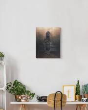 Black Labrador- Reflection 11x14 Gallery Wrapped Canvas Prints aos-canvas-pgw-11x14-lifestyle-front-03