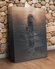 Black Labrador- Reflection 11x14 Gallery Wrapped Canvas Prints aos-canvas-pgw-11x14-lifestyle-front-18