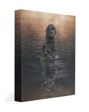 Black Labrador- Reflection 11x14 Gallery Wrapped Canvas Prints front