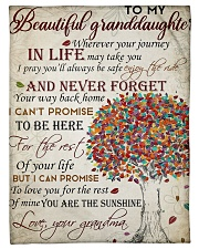 """To my beautiful granddaughter Small Fleece Blanket - 30"""" x 40"""" front"""