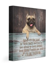 English bulldog- I'll be there 11x14 Gallery Wrapped Canvas Prints front