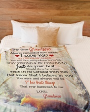 """Nana to my grandson - Stay strong and be confident Large Fleece Blanket - 60"""" x 80"""" aos-coral-fleece-blanket-60x80-lifestyle-front-02"""
