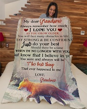 """Nana to my grandson - Stay strong and be confident Large Fleece Blanket - 60"""" x 80"""" aos-coral-fleece-blanket-60x80-lifestyle-front-04"""