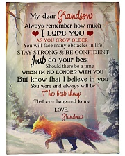 """Nana to my grandson - Stay strong and be confident Large Fleece Blanket - 60"""" x 80"""" front"""