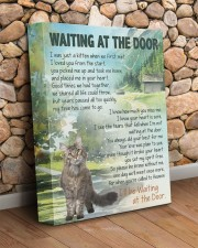 Maine Coon - Waiting at the door 11x14 Gallery Wrapped Canvas Prints aos-canvas-pgw-11x14-lifestyle-front-18