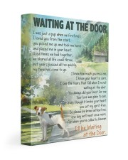 Waiting at the door - Rat Terrier 11x14 Gallery Wrapped Canvas Prints front