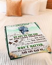 "To my husband - I had you and you had me Small Fleece Blanket - 30"" x 40"" aos-coral-fleece-blanket-30x40-lifestyle-front-01"