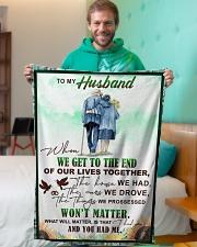 "To my husband - I had you and you had me Small Fleece Blanket - 30"" x 40"" aos-coral-fleece-blanket-30x40-lifestyle-front-09"