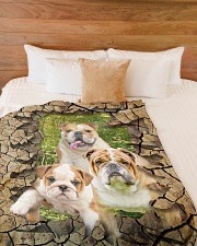 """English bulldog - They are my friends Large Fleece Blanket - 60"""" x 80"""" aos-coral-fleece-blanket-60x80-lifestyle-front-02"""