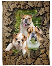 """English bulldog - They are my friends Large Fleece Blanket - 60"""" x 80"""" front"""