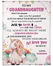 """Nana to my granddaughter - I love you so much Large Fleece Blanket - 60"""" x 80"""" front"""