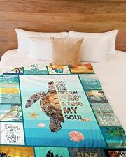 "I love turtles Large Fleece Blanket - 60"" x 80"" aos-coral-fleece-blanket-60x80-lifestyle-front-02"