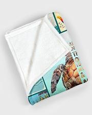 "I love turtles Large Fleece Blanket - 60"" x 80"" aos-coral-fleece-blanket-60x80-lifestyle-front-08"