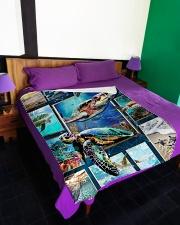 """Turtle - Beautiful Large Fleece Blanket - 60"""" x 80"""" aos-coral-fleece-blanket-60x80-lifestyle-front-01"""