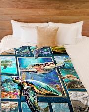 """Turtle - Beautiful Large Fleece Blanket - 60"""" x 80"""" aos-coral-fleece-blanket-60x80-lifestyle-front-02"""