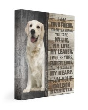 Golden retriever - Custom smaller 11x14 Gallery Wrapped Canvas Prints front