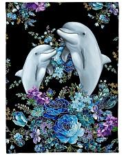 "I love dolphins Large Fleece Blanket - 60"" x 80"" front"