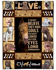 """Pit Bull - Look into their eyes Large Fleece Blanket - 60"""" x 80"""" front"""