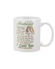 To my husband - I love you forever and always Mug front