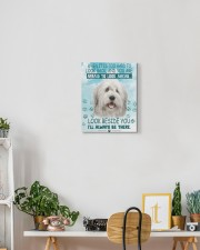 Old English Sheepdog - I'll always be there 11x14 Gallery Wrapped Canvas Prints aos-canvas-pgw-11x14-lifestyle-front-03
