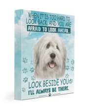Old English Sheepdog - I'll always be there 11x14 Gallery Wrapped Canvas Prints front